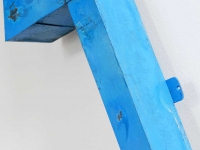 Loft design régi kültéri dekoráció old outdoor decoration alte Außendekoration kék nyíl blauer Pfeil blue arrow ipari industrial industriell shabby chic rusty style artkraft