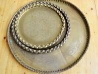 Loft design nagyméretű réztálca große Kupferschale Large brass tray shabby chic rusty style artkraft