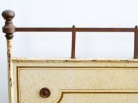 Loft design régi vaságy old iron bed alte Eisenbett ipari industrial industriell shabby chic rusty style artkraft