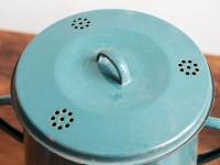 Loft design régi old alte zománcedény enamel pot Email-Topf dekoráció decoration Dekoration zsírosbödön