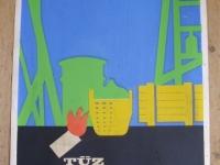 Loft bútor Retro munkavédelmi plakát 3