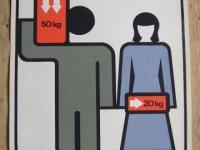 Loft bútor Retro munkavédelmi plakát 1