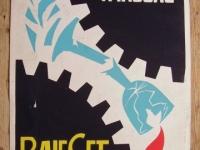 Loft bútor Retro munkavédelmi plakát 7