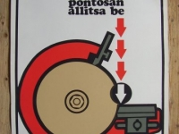 Loft bútor Retro munkavédelmi plakát 6