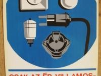 Loft design Retro munkavédelmi plakát 1