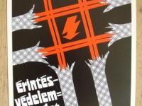 Loft design Retro munkavédelmi plakát 5