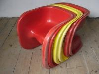 Loft design Svéd design műanyag gyerekszék Kinderstuhl Scandinavian schwedischen Kunststoff