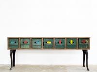 Loft design méhkaptár szekrény Beehives cabinet Bienenschrank sokfiókos szekrény viele Schubladen Schrank chest of drawers cabinet ipari industrial industriell shabby chic rusty style artkraft