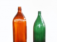 Loft design színes üveg colored glass gefärbtes Glas virágváza Blumentopf flowerpot vase dekoráció dekoration decoration ipari industrial industriell shabby chic rusty style artkraft