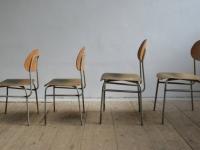 Loft design Ipari iskolai óvodai gyerekszékek régi old school children's chairs alten Kinderstuhl