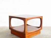 Loft design régi teakfa dohányzóasztal Alte Teak Couchtisch old teak coffee table ipari industrial industriell artkraft shabby chic rusty style