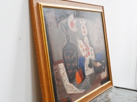loft design Tóth László Csendélet absztrakt eredeti olaj festmény original abstract oil painting ursprünglichen abstrakten Ölgemälde artkraft