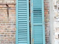 Loft design régi zsalugáter old shutters alten Fensterläden dekoráció dekoration decoration ipari industrial industrie shabby chic rusty style artkraft
