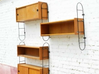 Loft design variálható fali polcrendszer Variable wall shelf system Variable Wandregale ipari indusrial industriell shabby chic rusty style artkraft