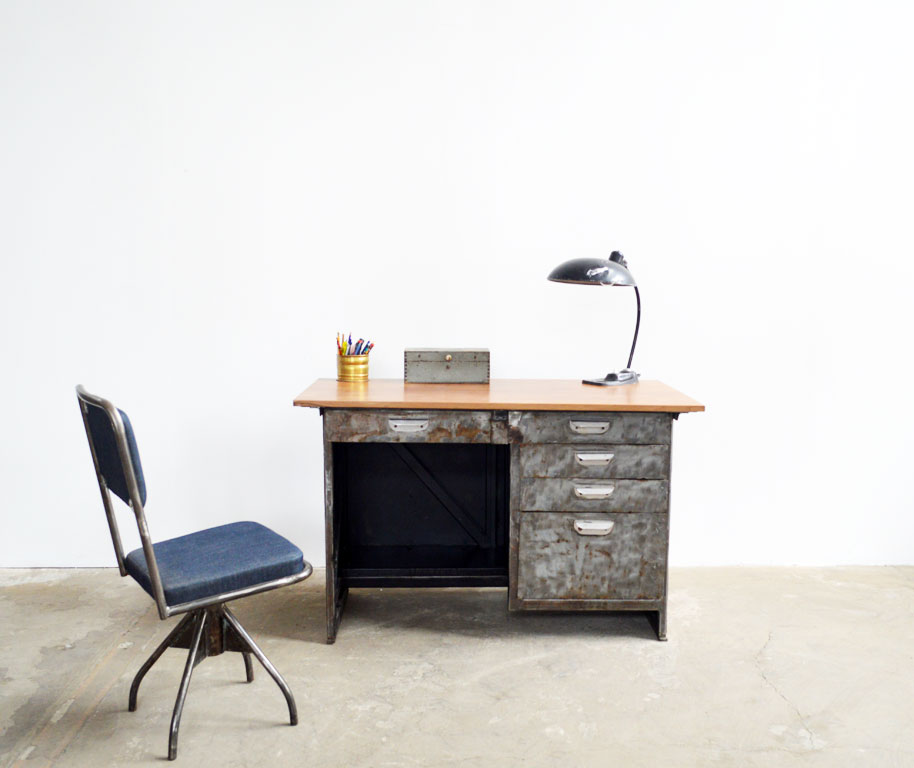Kinderschreibtisch design  Iron desk | artkraft Loftdesign