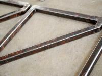 Loft design vas polctartó iron shelf holder Eisen Regal Halterung ipari industrial industiell shabby chic rusty style artkraft