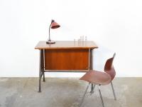 loft design régi iskolai asztal íróasztal tanulóasztal Old student desk Alter Schulbank Schreibtisch ipari industrial industriell shabby chic rusty style artkraft