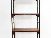 Loft design nagyméretű polc large shelf großes Regal könyvespolc bookshelf Bücherregal ipari industrial industriell shabby chic rusty style artkraft
