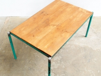 Loft design zöld vázas dohányzóasztal Green coffee table grüner Rahmen Couchtisch ipari industrial industriell shabby chic rusty style artkraft
