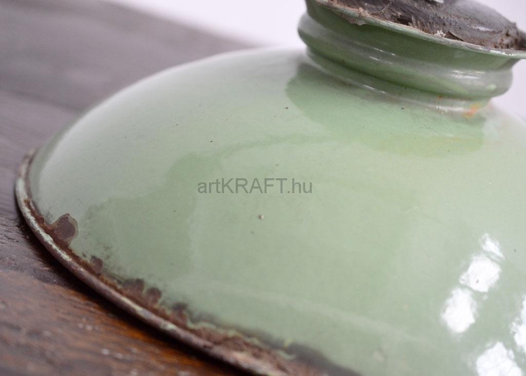 Green enameled wall lamp artkraft loftdesign