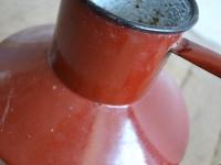 loft design zománc edény kanna old enamel kettle pot Alte Email kessel Topf