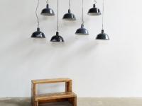 Loft design régi old alte ipari industrial industriell csarnoklámpa hall light Hallenlicht zománclámpa enamel lamp Emaille Lampe fekete black schwarz artkraft