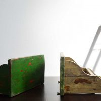 Loft design régi zöld rádiópolc old grüne shelf alt Radioregal fali polc Green Wandregal Wall radio shelf ipari industrial industriell shabby chic rusty style artkraft