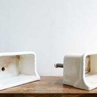 Loft design Régi porcelán-mosogató Altes Abwaschbecken aus Porzellan Old porcelain sink