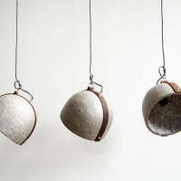 Loft design újrahasznosított papír lámpa recycled paper lantern Recycling-Papier Laterne