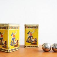 Loft design patinás bádog doboz getrübten Blechdose tarnished tin boksz dekoráció dekoration decoration