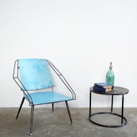 Loft design retró vasvázas fotel Retro Eisen Sessel retro iron armchair ipari industrial industriell shabby chic rusty style artkraft