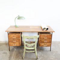 Loft design vasvázas íróasztal Iron-legged desk Eisen-legged Schreibtisch lerakóasztal Beistelltisch side table Lingel ipari industrial industriell shabby chic rusty style artkraft