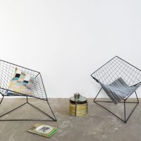 Loft design Ikea Bertoia Diamond chair rács fotel Gitter Sessel lattice armchair ipari industrial industriell shabby chic rusty style artkraft