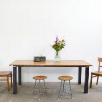 Loft design ipari nagyasztal étkezőasztal újrahasznosított tárgyalóasztal Industrial recycled dining table conference table Industrielle recycelten Esstisch Konferenztisch shabby chic rusty style artkraft