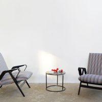 Loft design favázas fotel Fachwerk Sessel half-timbered armchair ipari industrial indusriell shabby chic rusty style artkraft
