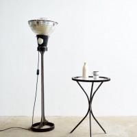 Loft design fogaskerék körasztal Ritzeldrehtisch pinion rotary table lerakóasztal side table Beistelltisch kávézó asztal