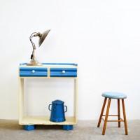 Loft design polcos szekrény Regale shelves konzolasztal console table Konsolentisch médiatároló Medienspeicher media storage