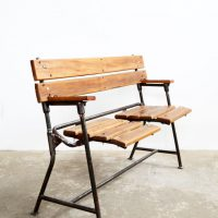 Loft design lenyitható iskolai pad pulldown school bench Niederzieh Schulbank ipari industrial industriell shabby chic rusty style artkraft