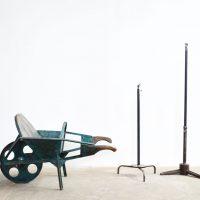 Loft design türkiz vastalicska Turquoise Eisen Schubkarre Turquoise iron wheelbarrow kerti dekoráció Garden decoration Gartendekoration ipari indusrial industriell shabby chic rusty style artkraft