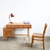 Loft design diófurnér íróasztal Nussbaumfurnier Schreibtisch walnut veneer desk ipari industrial industriell shabby chic rusty style artkraft