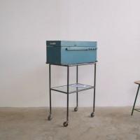 Loft design gurulós irattartó szekrény rolling filing cabinet Rollaktenschrank