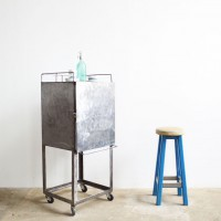 Loft design ipari industrial industriell fém műhelyszekrény workshop metal cabinet Werkstatt Metallschrank artkraft