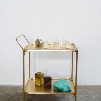 loft design régi zsúrkocsi old dinner wagon Abendessen Wagen tálalóasztal szerviz kocsi lerakóasztal Beistelltisch side table ipari industrial industriell shabby chic rusty style artkraft