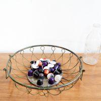 Loft design vas gyümölcskosár iron fruit basket eiserner Obstkorb dekoráció dekoration decoration ipari industrial industriell shabby chic rusty style artkraft