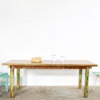 Loft design régi ipari industrial industriell műhelyasztal workshop table Werkstatt Tisch étkezőasztal tárgyalóasztal dining table conference table Esstisch Konferenztisch shabby chic rusty style artkraft