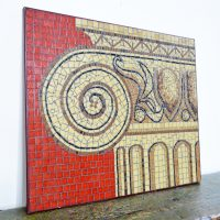 Loft design mozaik kép Mosaikbild mosaic picture Korinthosz dekoráció dekoration decoration ipari industrial industriell shabby chic rusty style artkraft