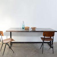 loft design ipari étkező tárgyaló asztal industrial dining table industrie fabrik esstisch vas tetőlapos asztal iron roof topped shabby chic rusty style artkraft