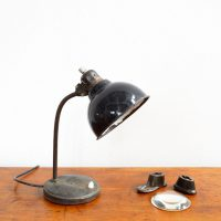 Loft design fekete asztali lámpa Tischlampe table lamp ipari industrial industriell shabby chic rusty style artkraft
