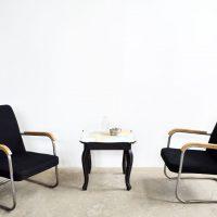 Loft design régi fotel bauhaus armchair Sessel csővázas fotel tubular chair ipari industrial industiell shabby chic rusty style artkraft
