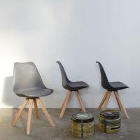 Loft design szürke étkezőszék gray dining chair grau Esszimmer Stuhl dolgozószék Büroangestellte office worker ipari industrial industriell shabby chic rusty style artkraft